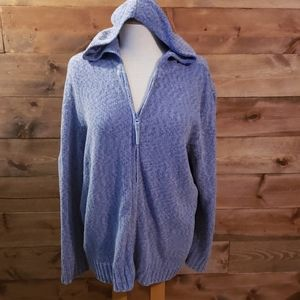 Women's White Stag full zip front sweater.